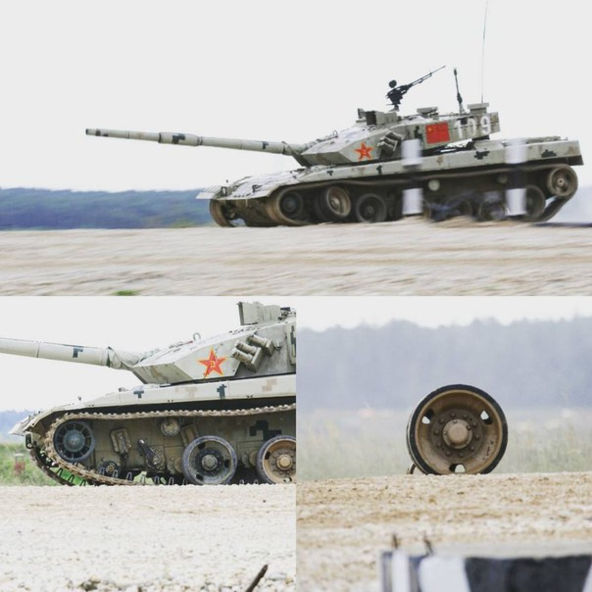 How a Chinese Type 96B Tank Lost a Wheel During an Event