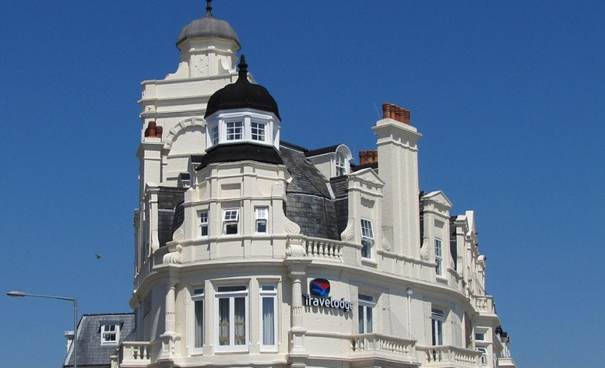 Some Travelodges are converted older buildings like this one in Eastbourne.