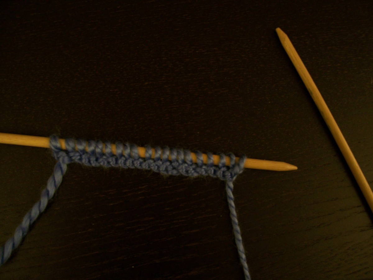 Every knitting project begins with a row of foundation stitches.