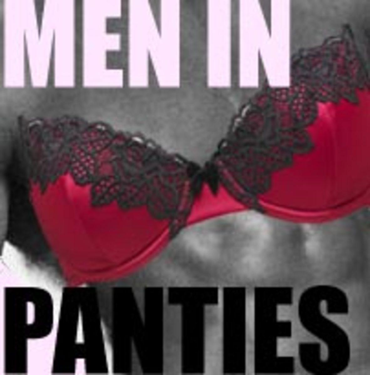 Men masturbation in pantyhose and panties