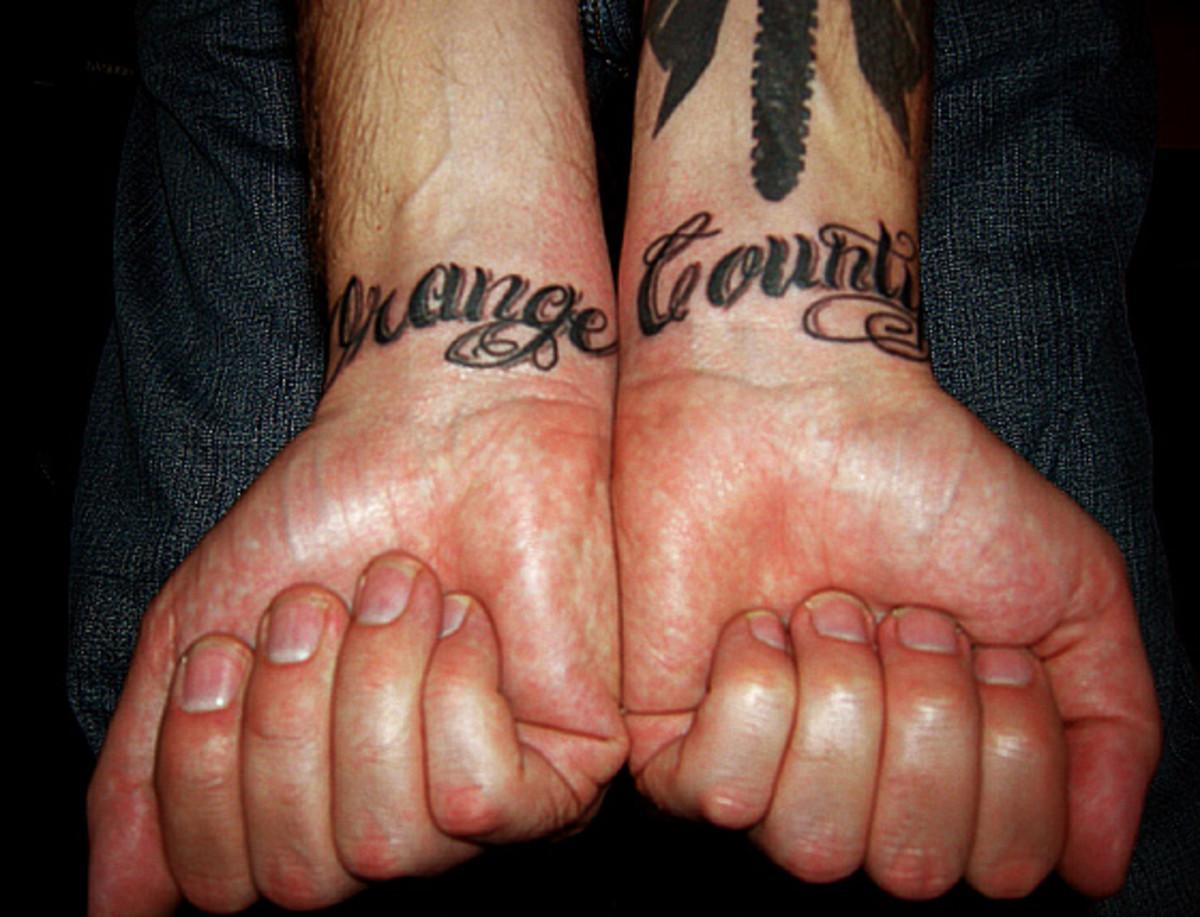Orange County gang tattoo - used to identify affiliation.