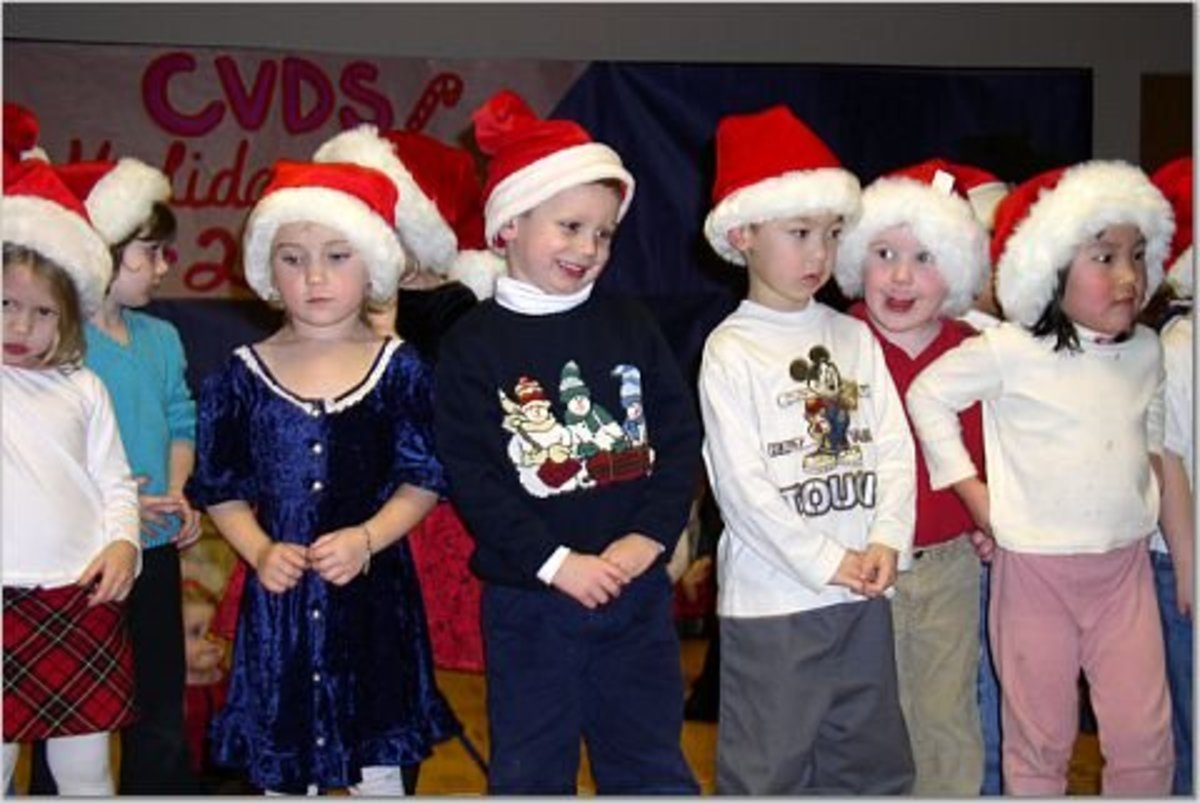 Daycare children put on a holiday performance