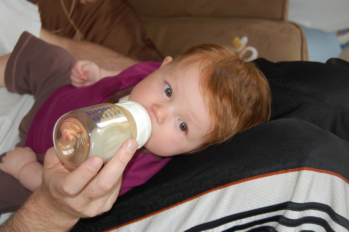 Hopefully, the pacified will have started your baby's sucking reflex that she will then continue with the bottle.