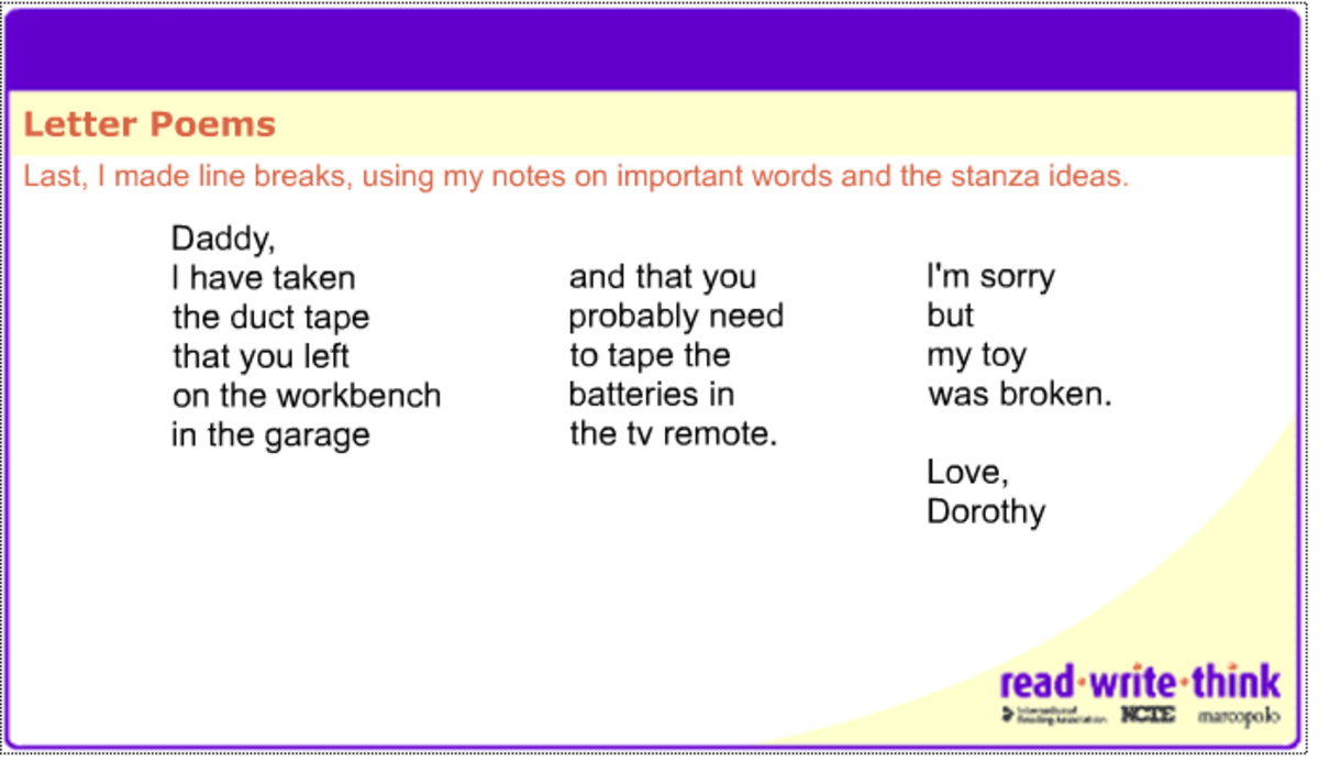 Letter Poem Creator.