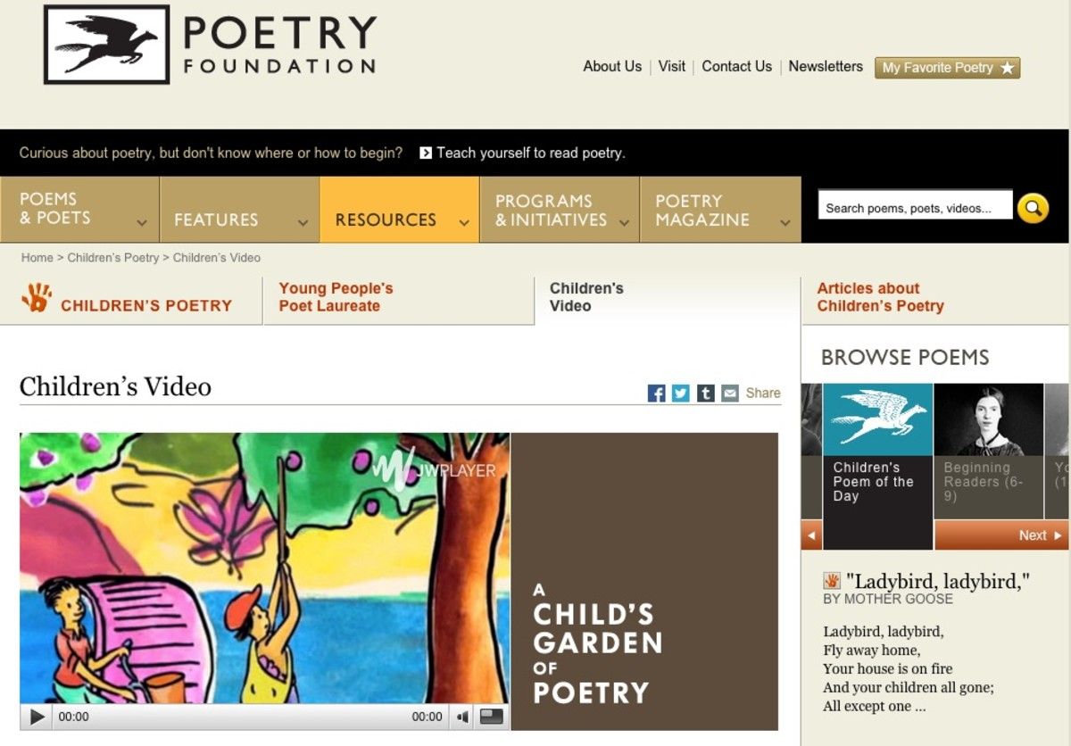 The Poetry Foundation website provides videos of poetry and author interviews.