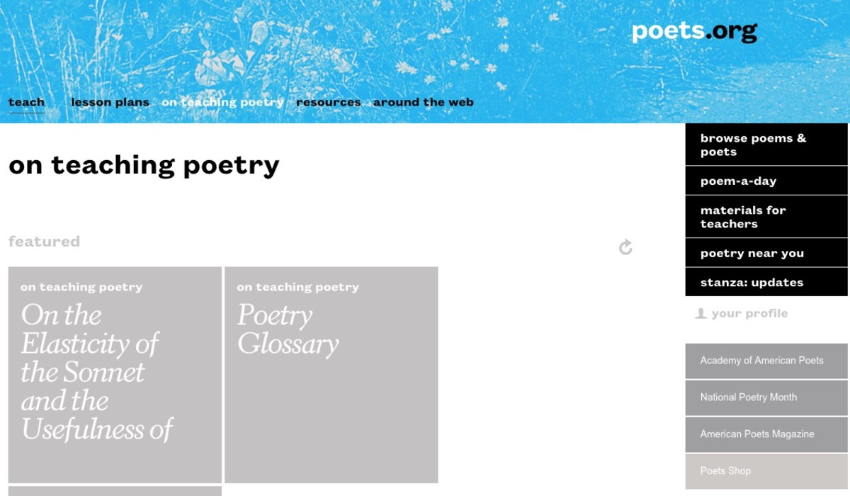 Poets.org is a website from the Academy of American Poets.