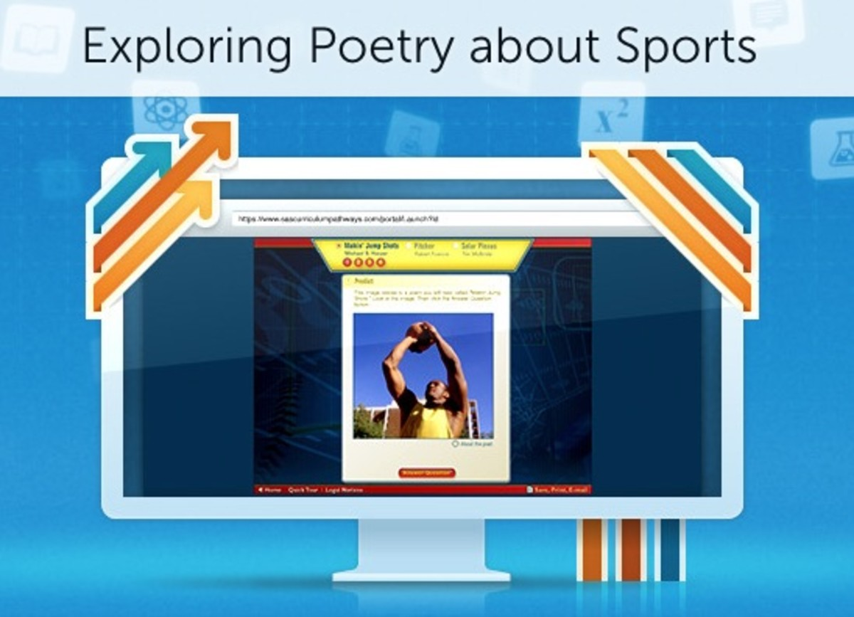 Exploring Poetry with Curriculum Pathways. In this lesson, children learn about sports-themed poems.