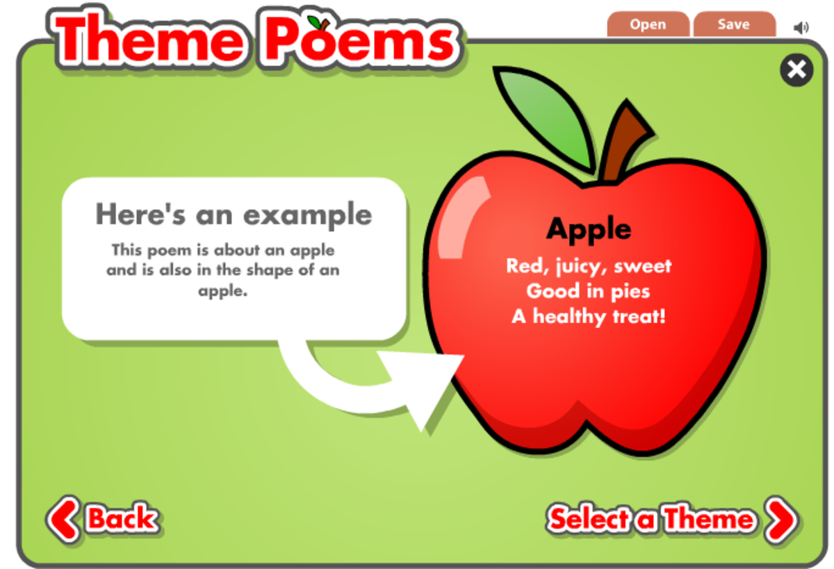 Shape Theme Poem Interactive