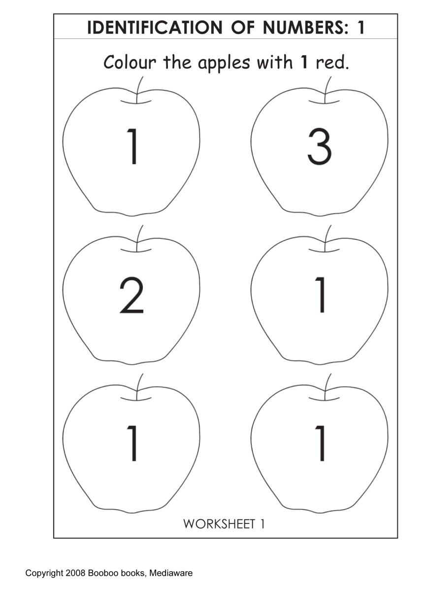 Sample Kindergarten Worksheet