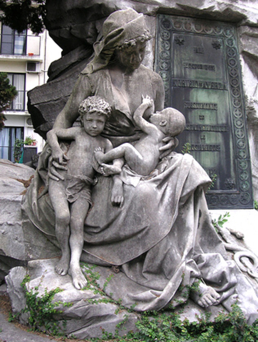 Statue of Woman Breastfeeding.  Do you know where this is?  Photo Credit: http://www.flickr.com/photos/blmurch/307400097/ under Creative Commons Attribution License