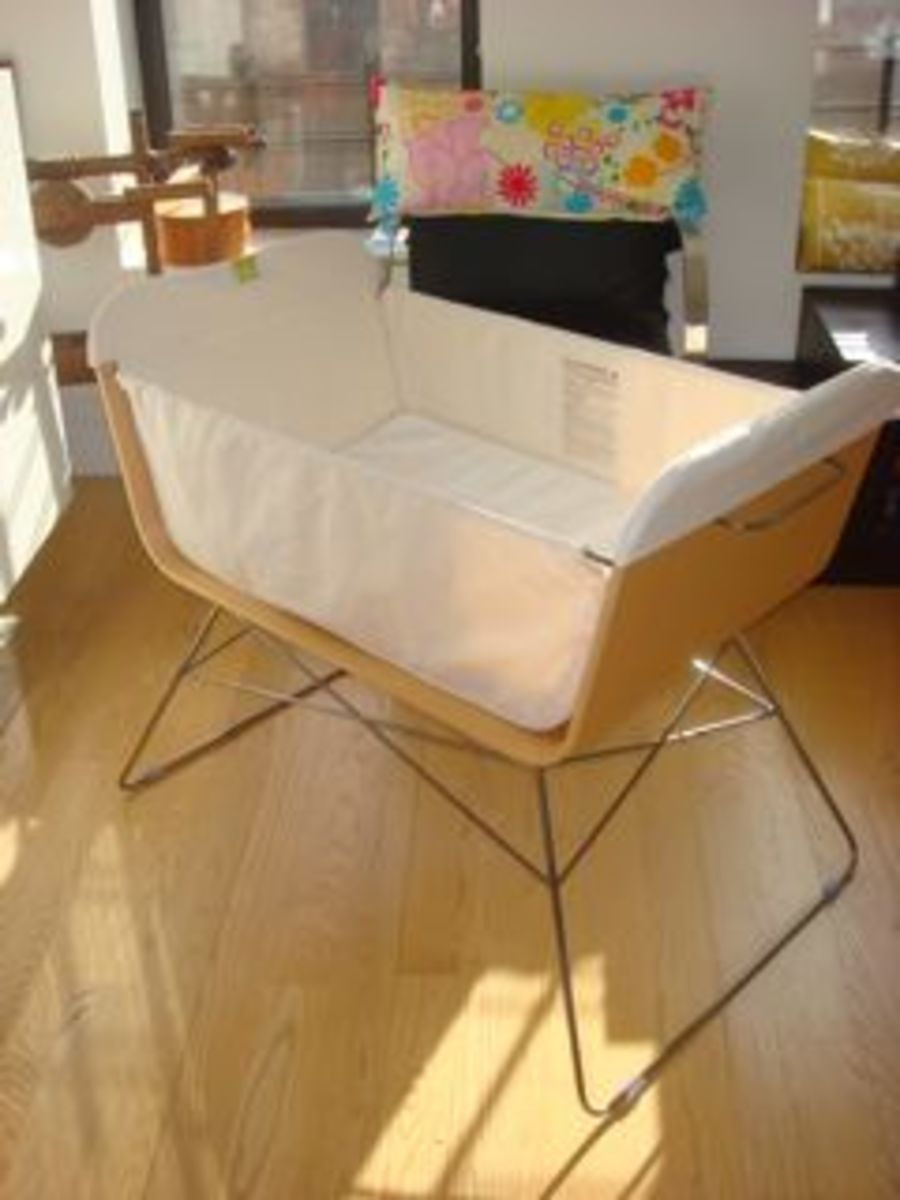 Ooba baby bassinet.  new york.  apartment therapy .com