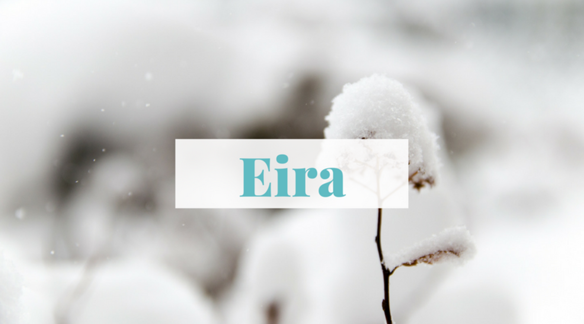 """Looking for a name that channels the soft calm of snow? Eira is Welsh for """"snow."""""""