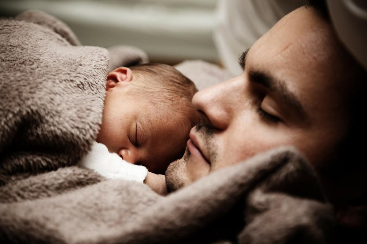 Newborn With Dad