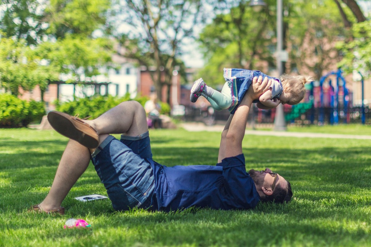 Dad Playing With Toddler