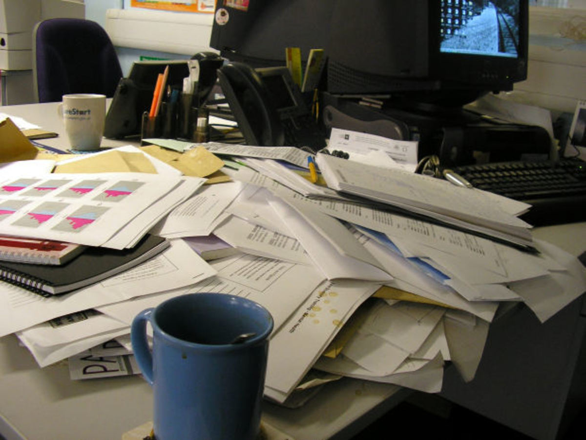disorganization can lead to undue stress