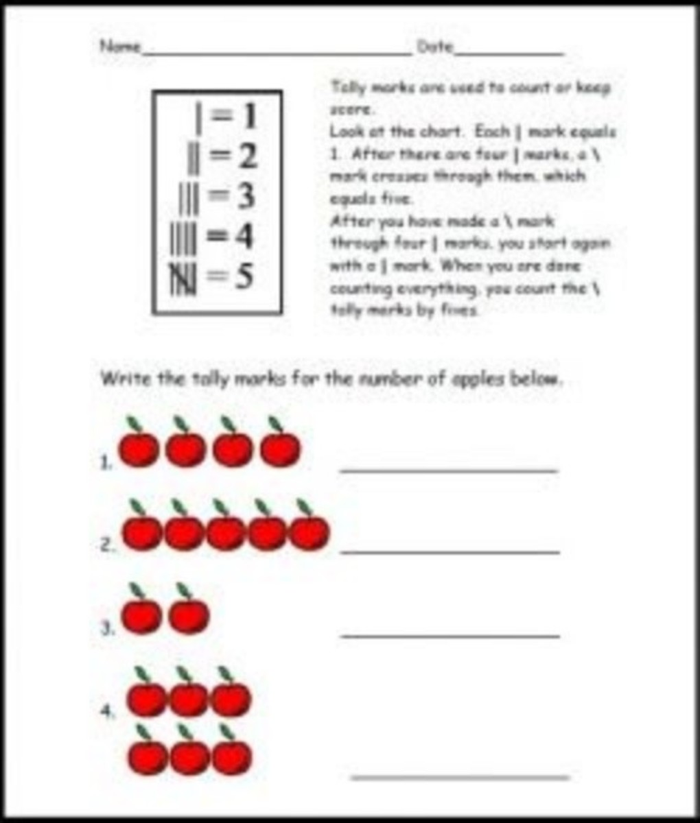 Tally Marks Worksheet