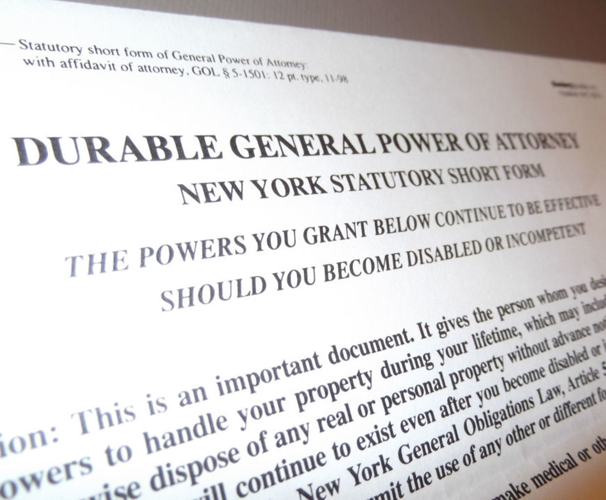 Durable General Power Of Attorney