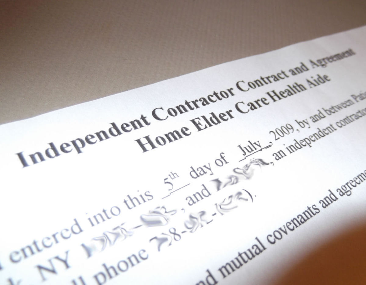 Independent Contractor Elder Care Agreement
