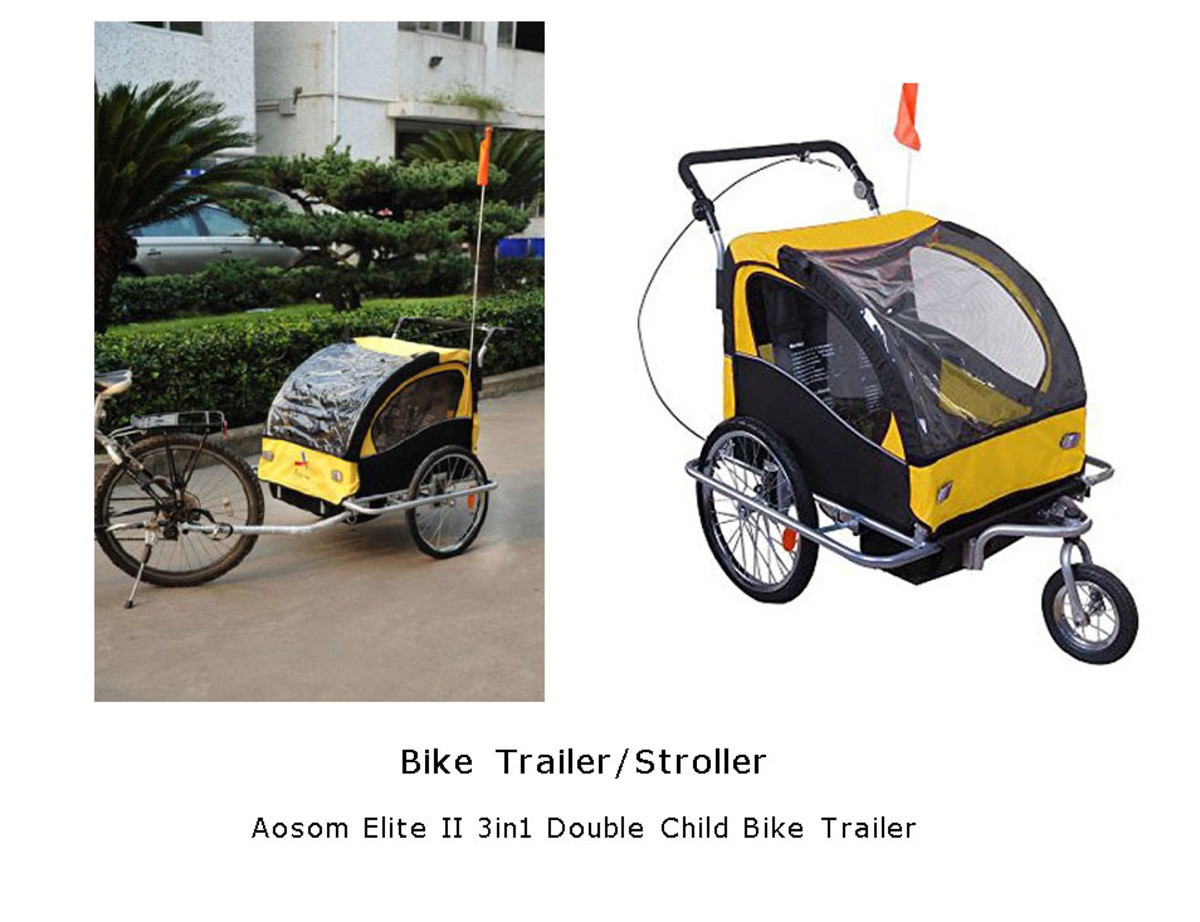 Kid's bike trailer/stroller