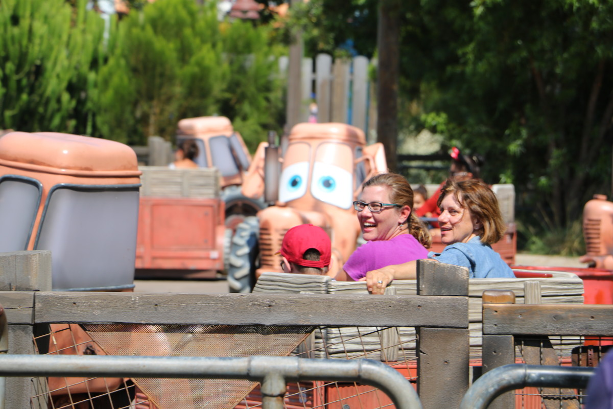 Mater's Junkyard Jamboree is a fun ride, and is not scary in any way.