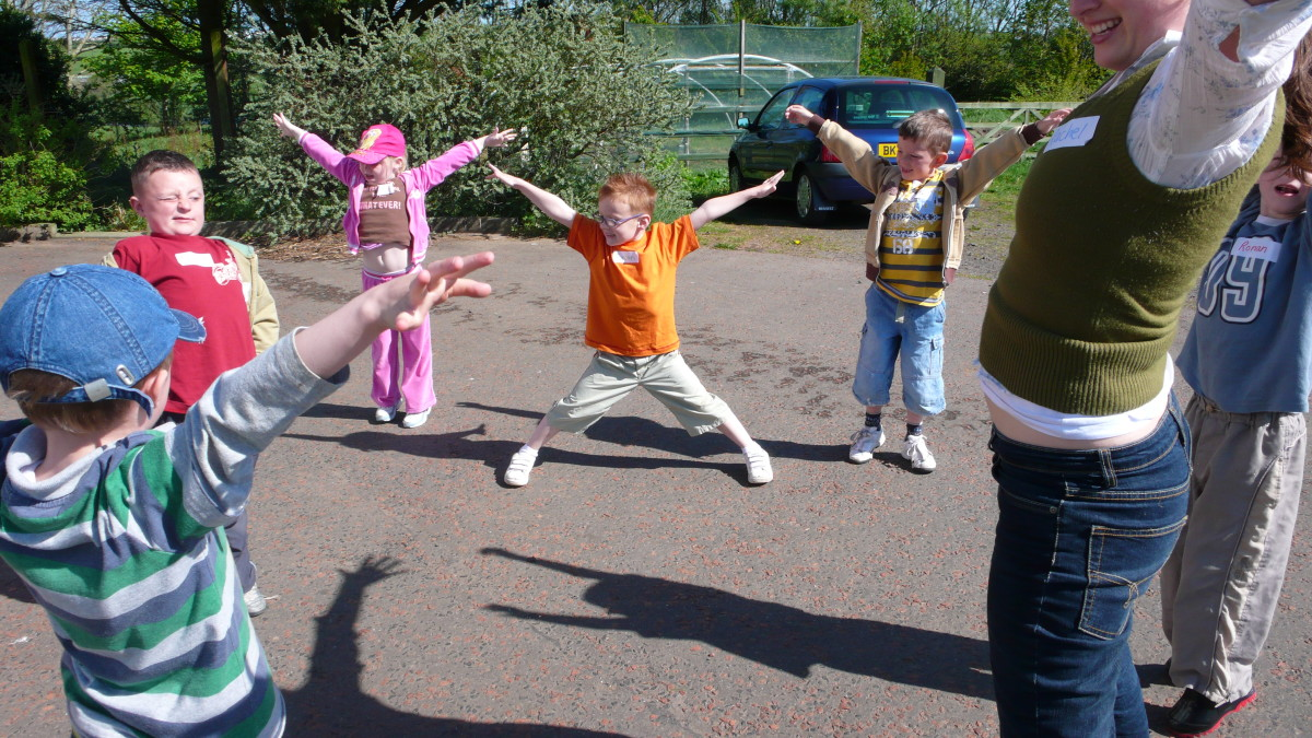 Active games keep children engaged and enthusiastic.