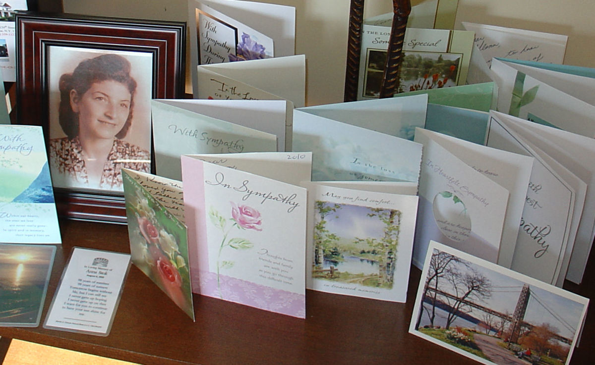 Everyone sent sympathy cards.