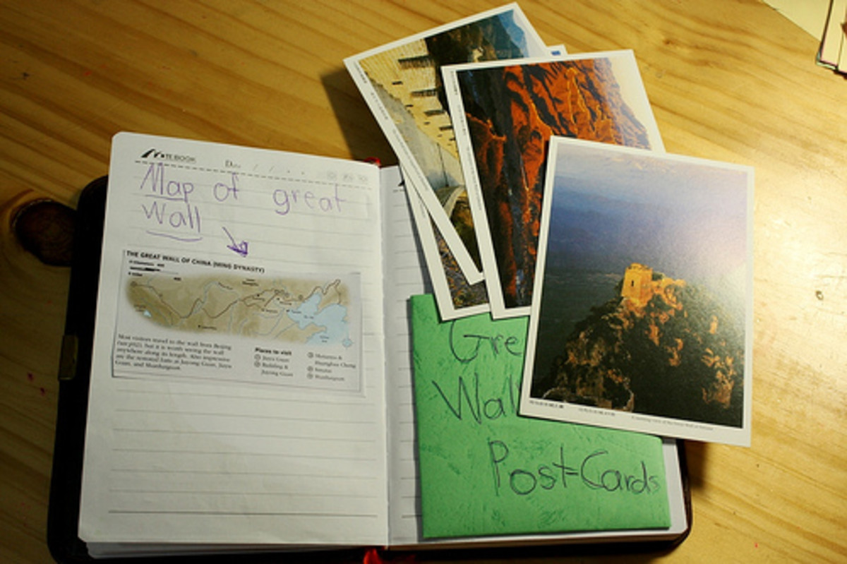 Notebooking after a trip to the Great Wall in China
