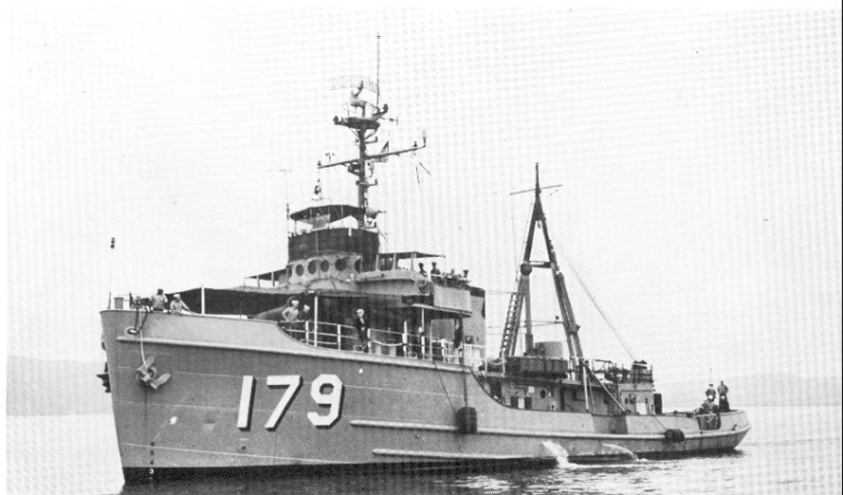 USS Allegheny (ATA-179) underway, date and location unknown. US Navy photo