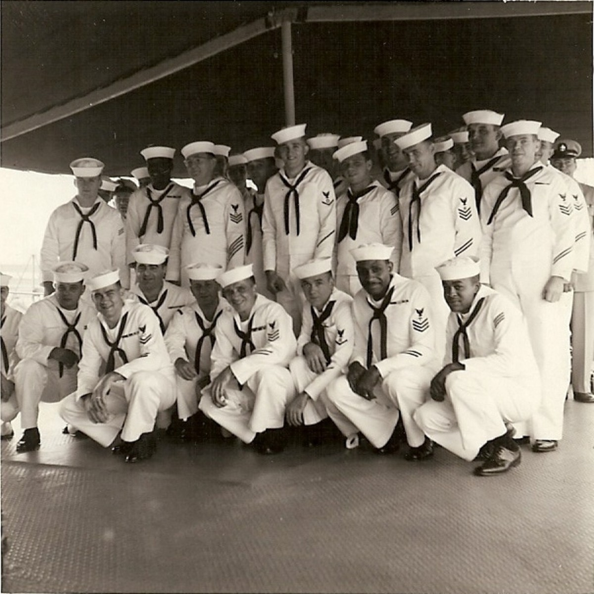 Crew of the USS Allegheny in 1958 or 1959