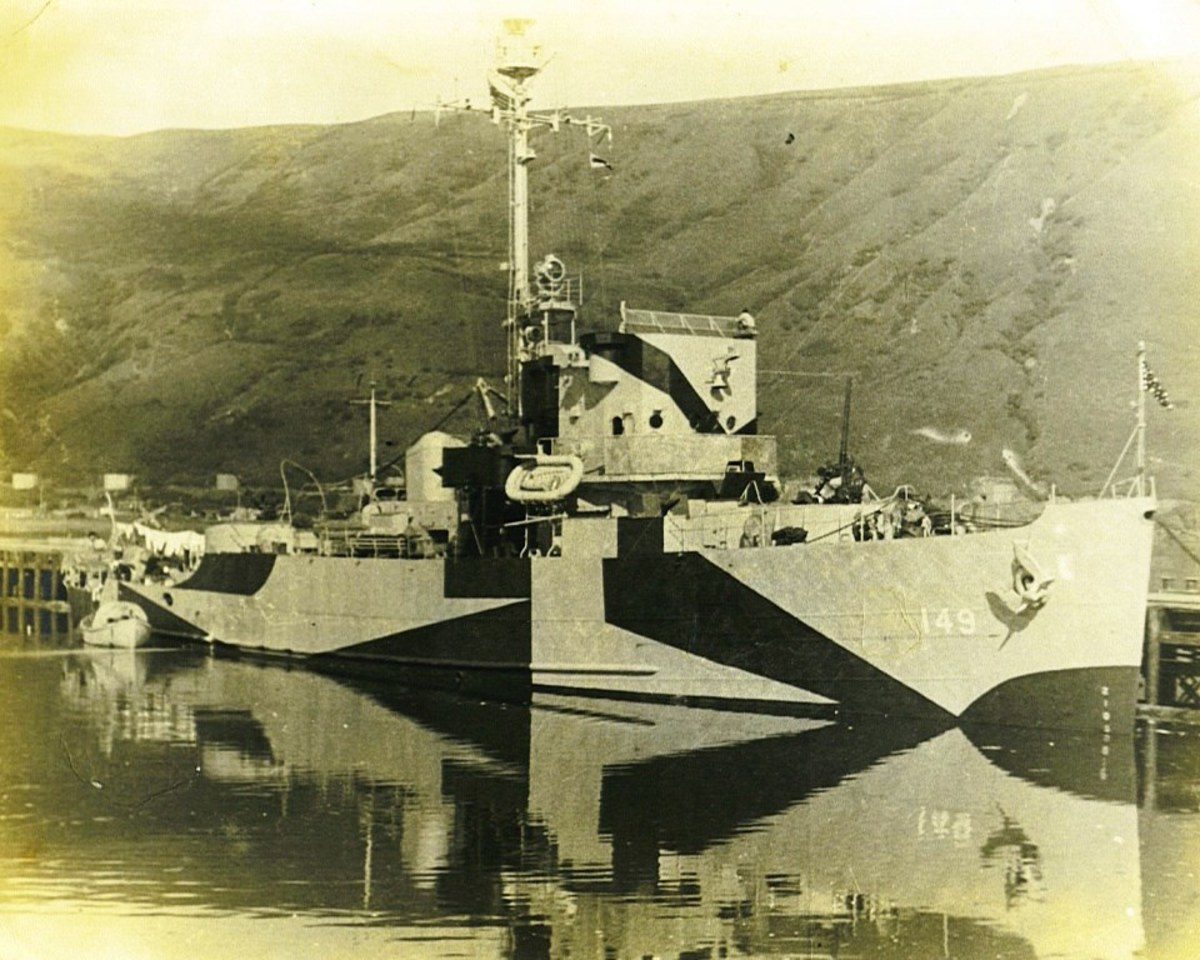 Dad served on the Augury, a minesweeper built for the U.S. Navy during World War II and in commission from 1943 to 1945