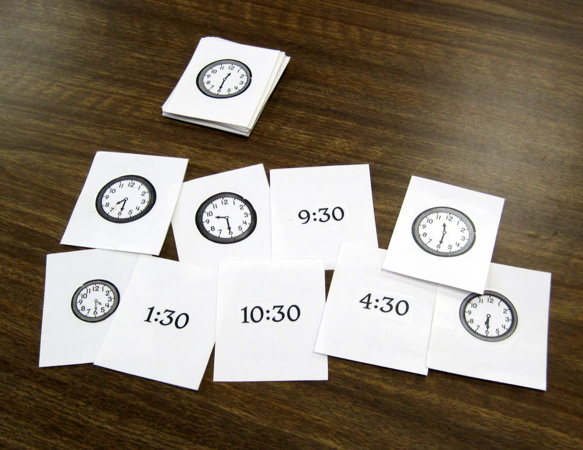Time concentration / matching cards.