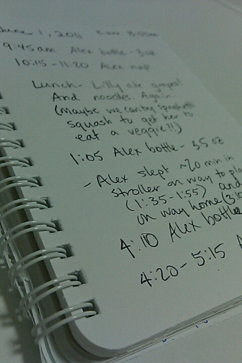 A daily log is a quick and easy way to keep the lines of communication open.
