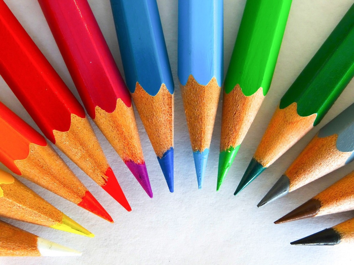 Coloured pencils are portable and are a great aid for nature drawings.