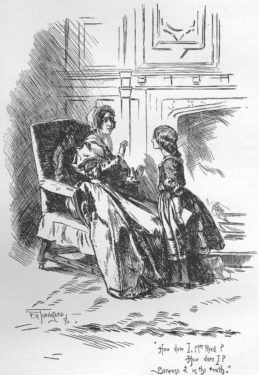 Jane Eyre and her Aunt Reed