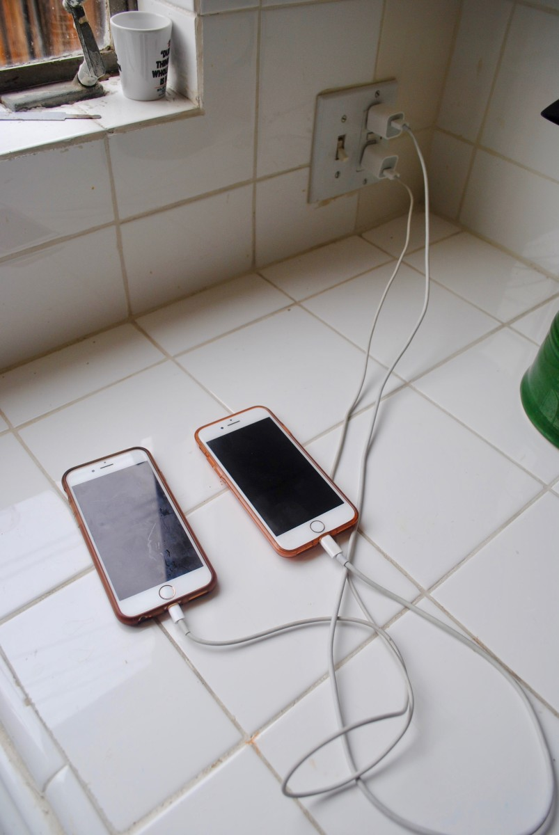 All phones should stay out of the bedroom. Find a common area to plug all electronics in at the end of the night.