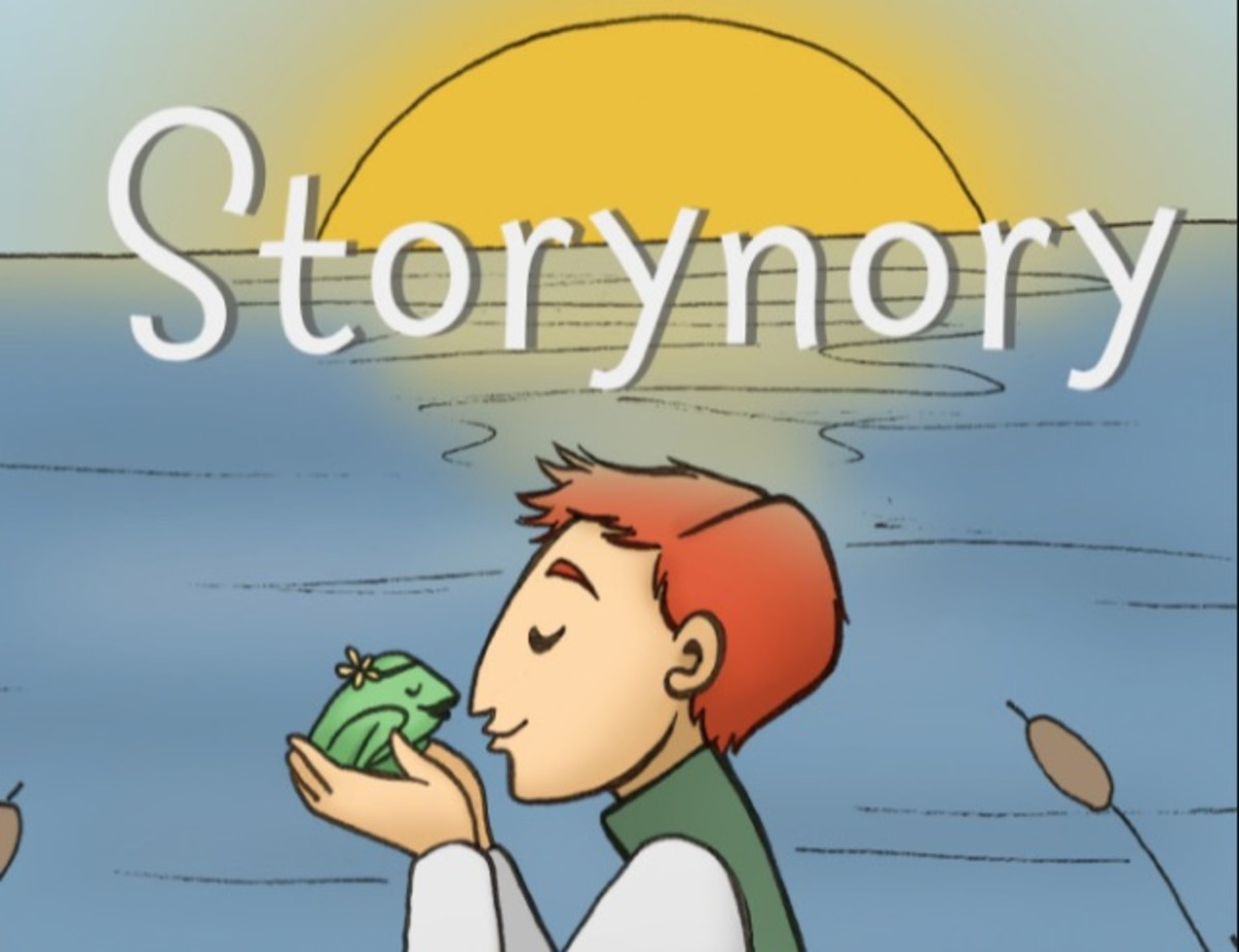 An example of an illustration from Storynory. This website offers free audio stories with accompanying text so children can read along.