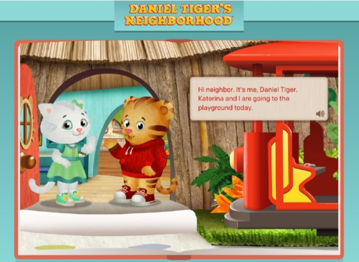 An example of a Daniel Tiger game on the PBS Kids website.
