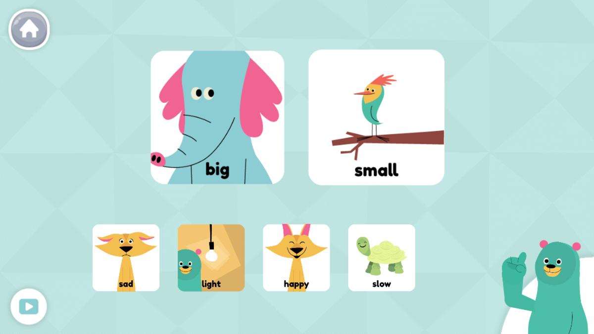 The Khan Academy Kids app.