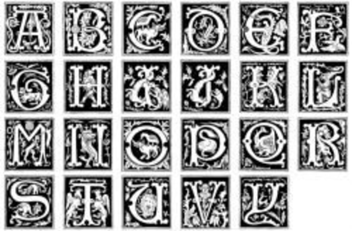 historical alphabet fonts