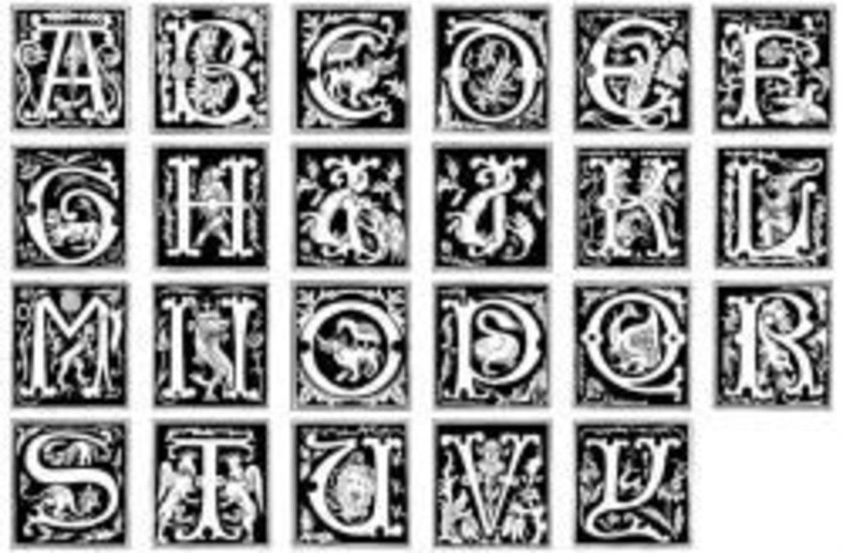 historical alphabet fonts