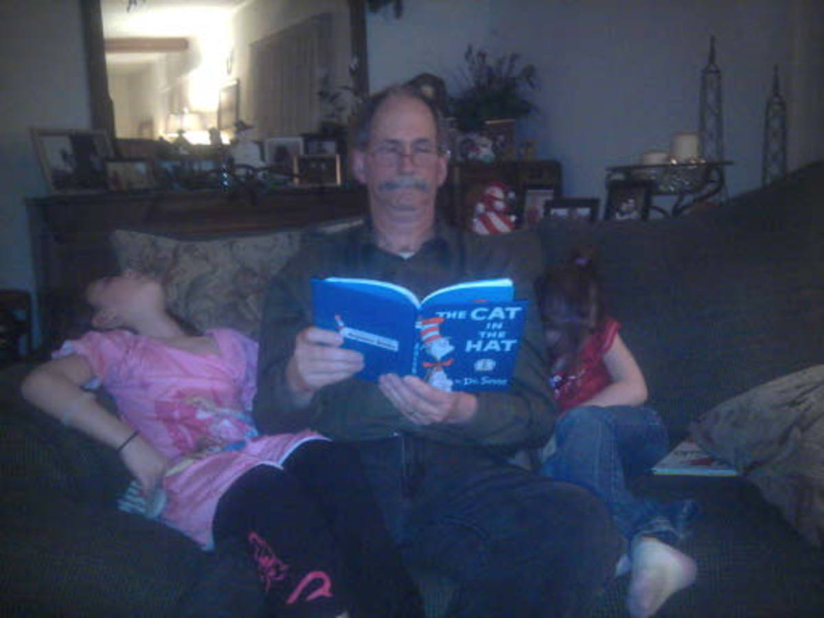 Reading to a child is becoming involved with them.  It is a great way to get nap time rolling!!