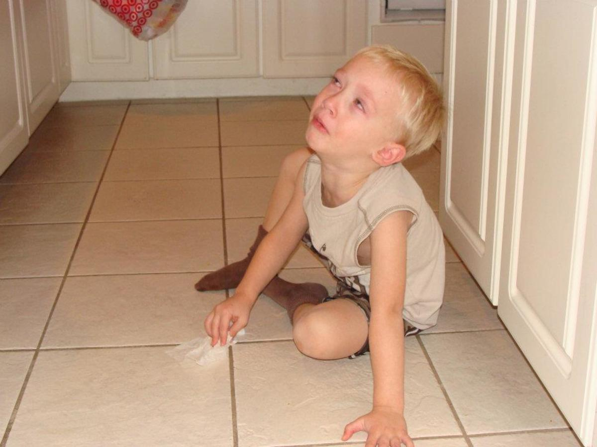 A good sitter takes away dangerous objects and makes the child clean up after himself.