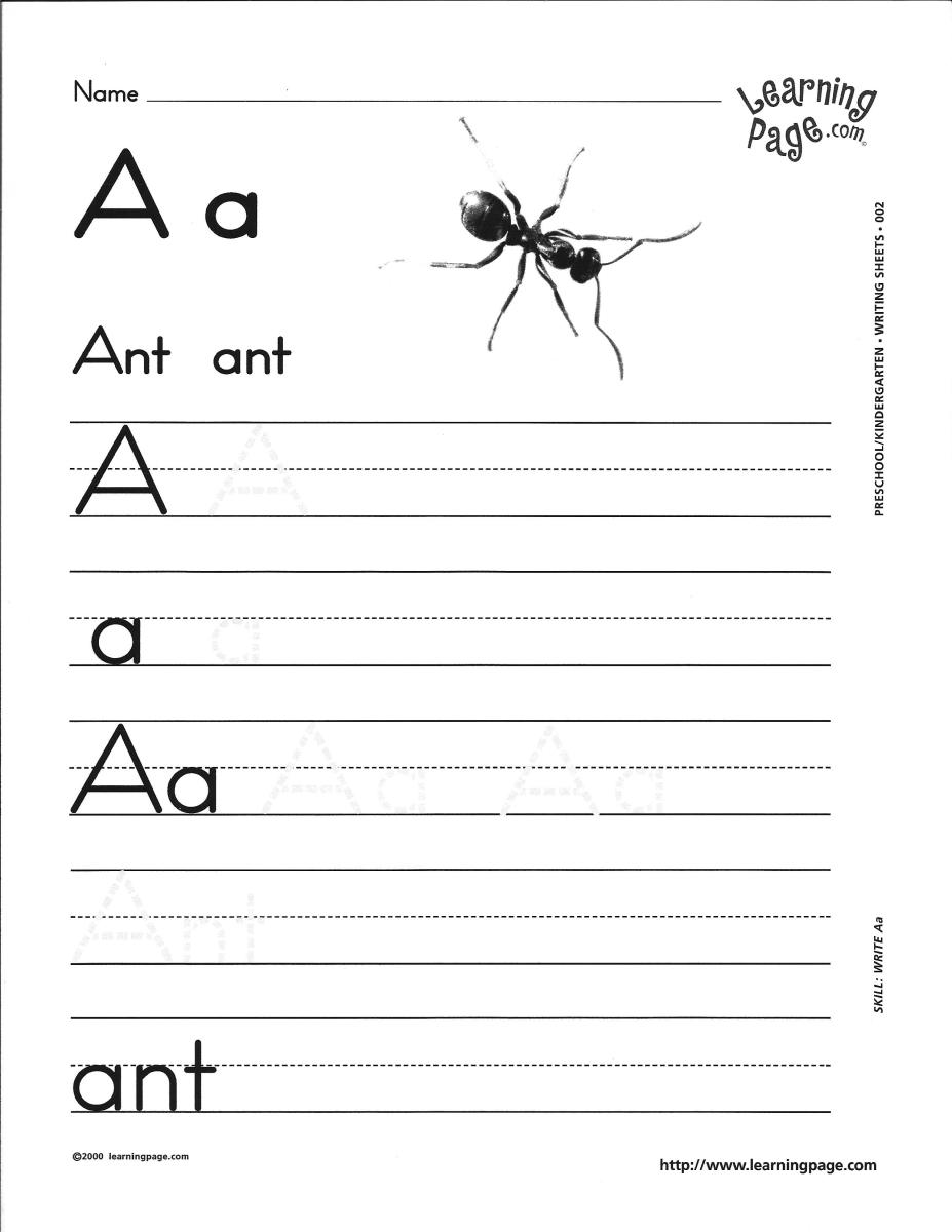 Number Names Worksheets free printable for kindergarten : free alphabet worksheets for kindergarten ~ Brandonbrice.us