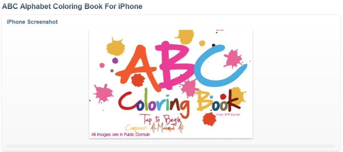 ABC Alphabet Coloring Book or iPhone