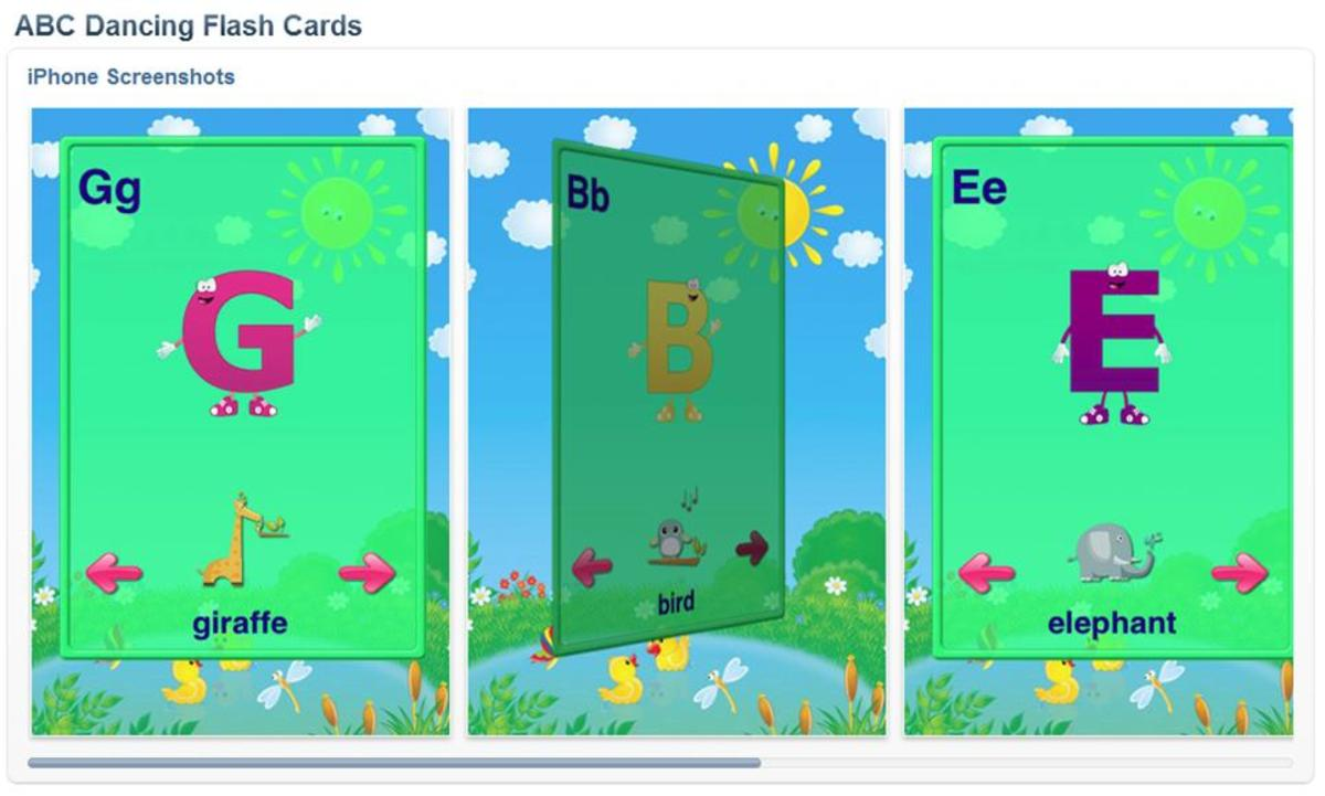 ABC Dancing Flash Cards