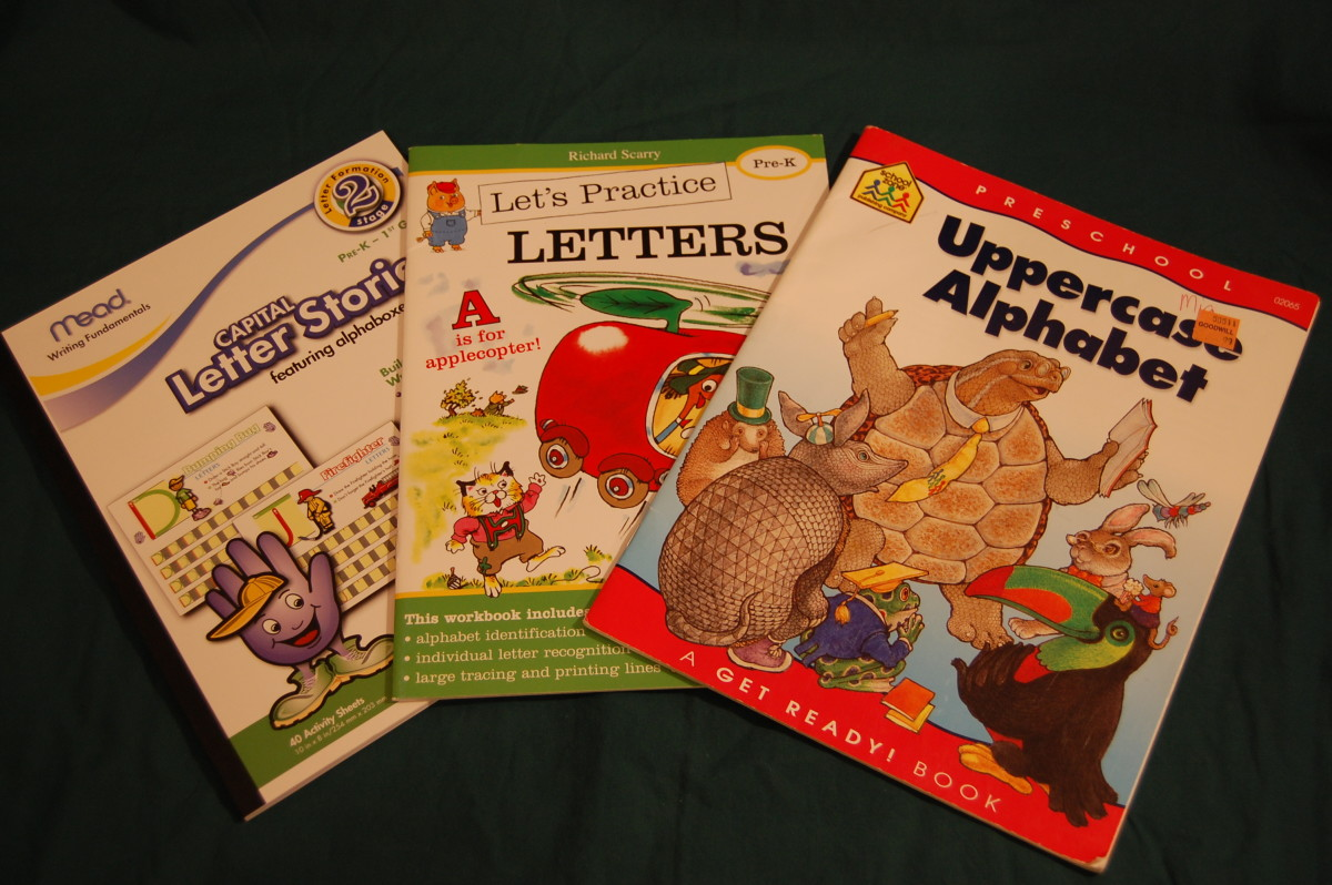 Assortment of Letter/Alphabet Writing Books