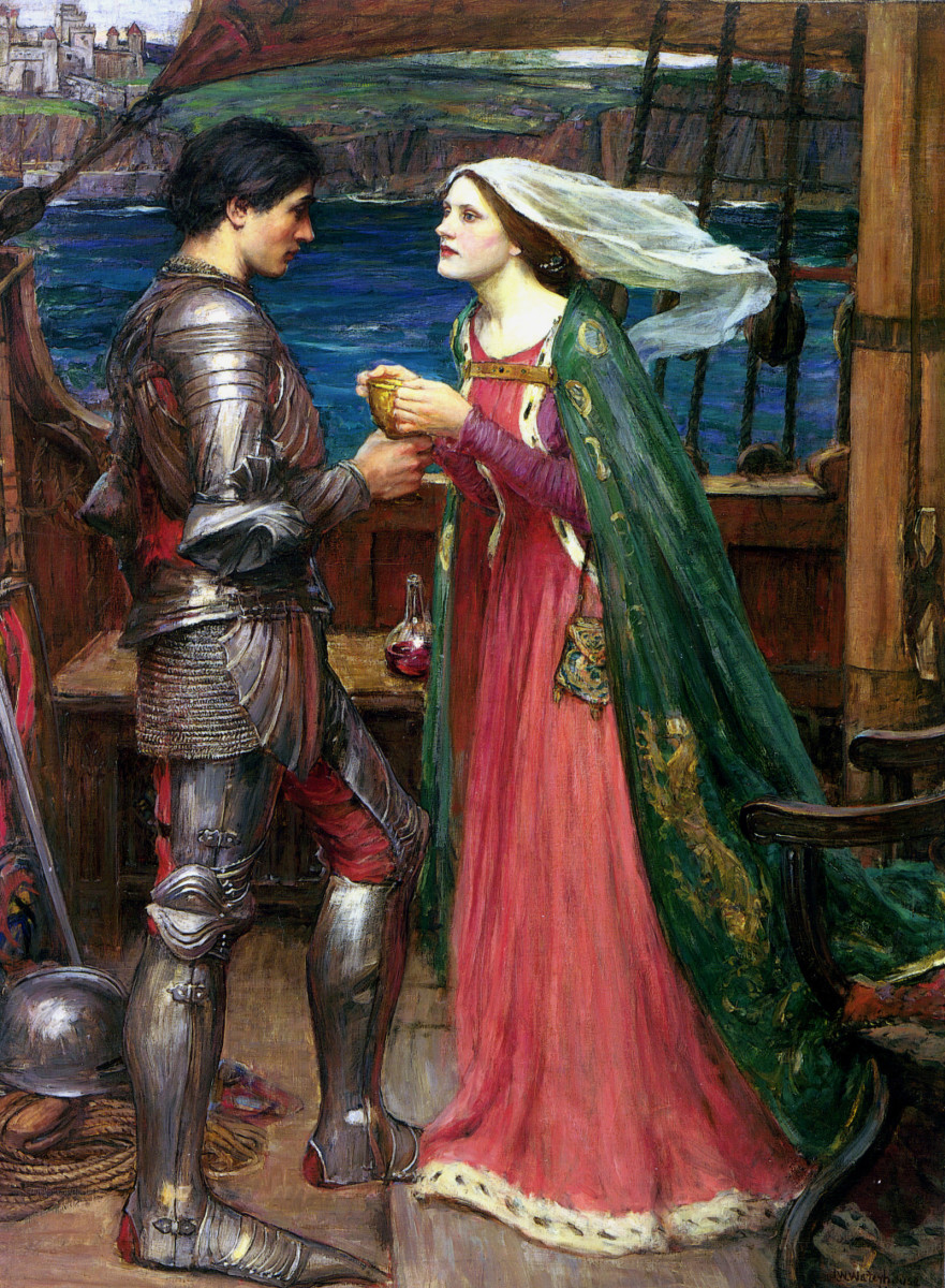The famed lovers, Tristan and Isolde