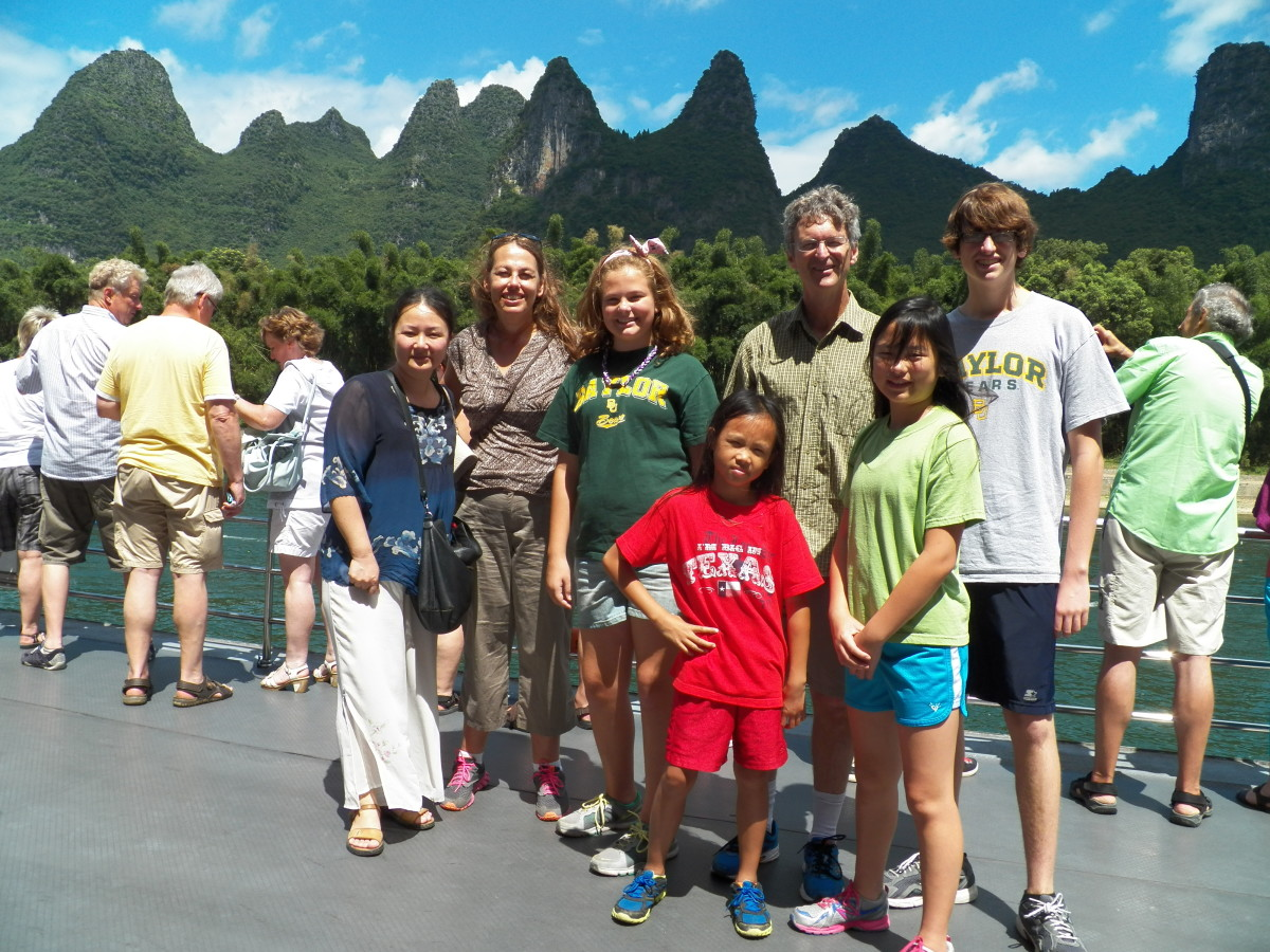 Our family on an adoption heritage trip to China in 2013.  We had a seven-week adventure that we still talk about all the time.