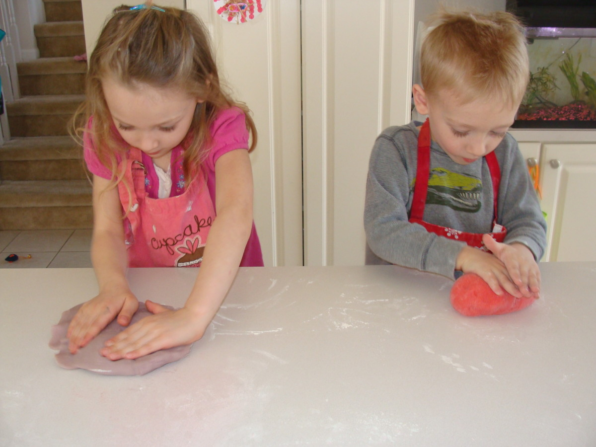 Let the kids have fun kneading the dough.