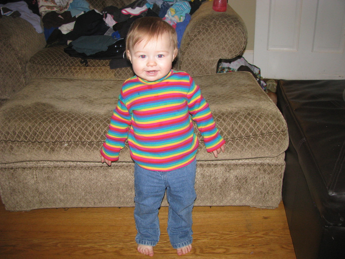 Once a baby stands up and takes those first few steps, she is no longer a baby but a toddler.